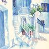Aquarellmalerei, Griechenland, Aquarell, Schatten