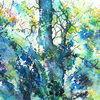 Aquarellmalerei, Birne, Frühling, Baum
