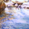 Kreta, Aquarellmalerei, Samaria, Schlucht