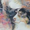 Hund, Aquarellmalerei, Wirbelwind, Tiere