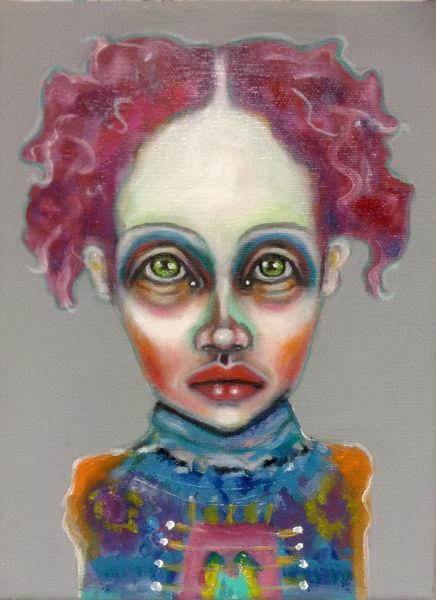 Mutant, Portrait, Bunt, Mode, Melancholisch, Zukunft