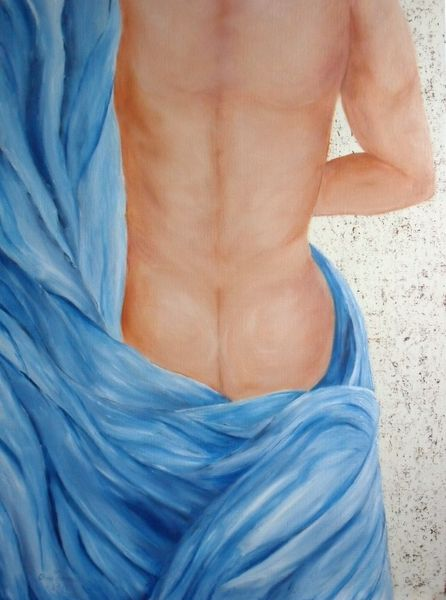 Schön, Rücken, Malerei