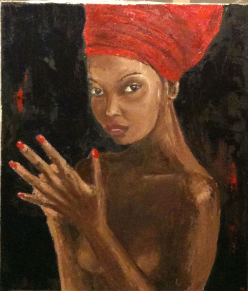 Frau, Malerei, Menschen