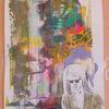 Mädchen, Zeichnen, Schreiben, Portrait
