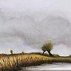 Malerei, Acrylmalerei, Niederrhein, Landschaft