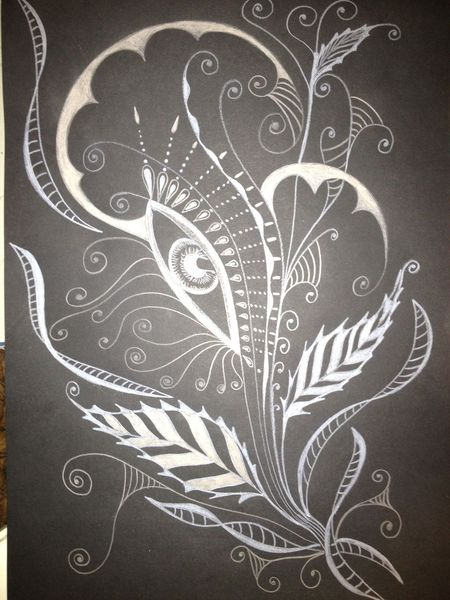 ornamente weiss zeichnung fantasie schwarz wei zeichnungen von patrizia g bei kunstnet. Black Bedroom Furniture Sets. Home Design Ideas