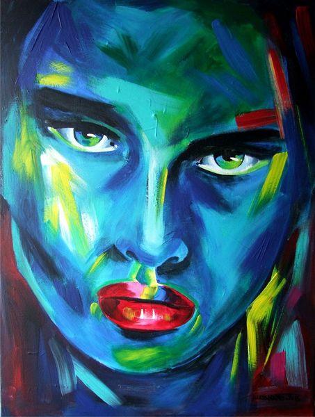 Candyart, Portrait, Acrylmalerei, Malerei,