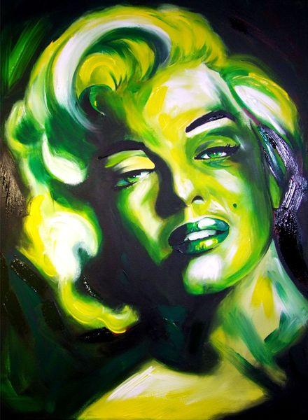 Monroe, Portrait, Marylin monroe, Acrylmalerei, Malerei,