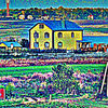 Dorf, Dorfhaus, Haus, Digitale kunst