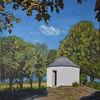 Sommer, Landschaft, Ölmalerei, Natur
