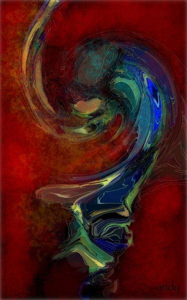 Abstrakte kunst, Modern, Farben, Abstrakt, Digitale kunst, Rot
