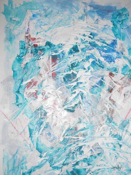 Abstrakte kunst, Alpen, Winter, Weihnachten, Schnee, Malerei