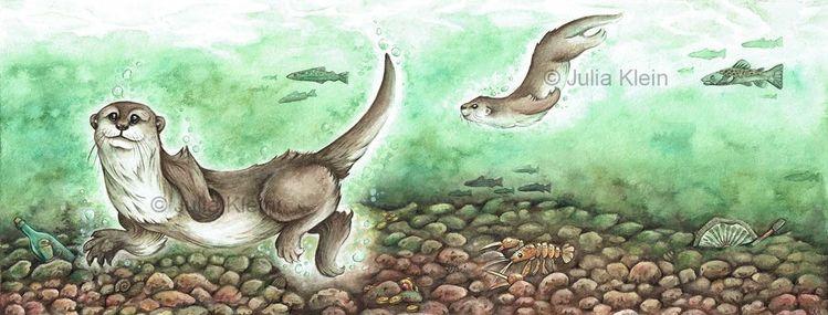 Unterwasser, Kinderbuch, Fluss, Fischotter, Otter, See