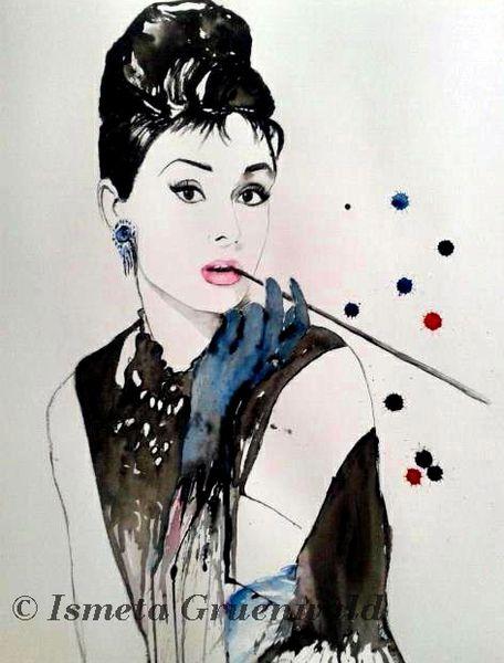 Persönlichkeit, Blau, Aquarellmalerei, Design, Modern, Augen