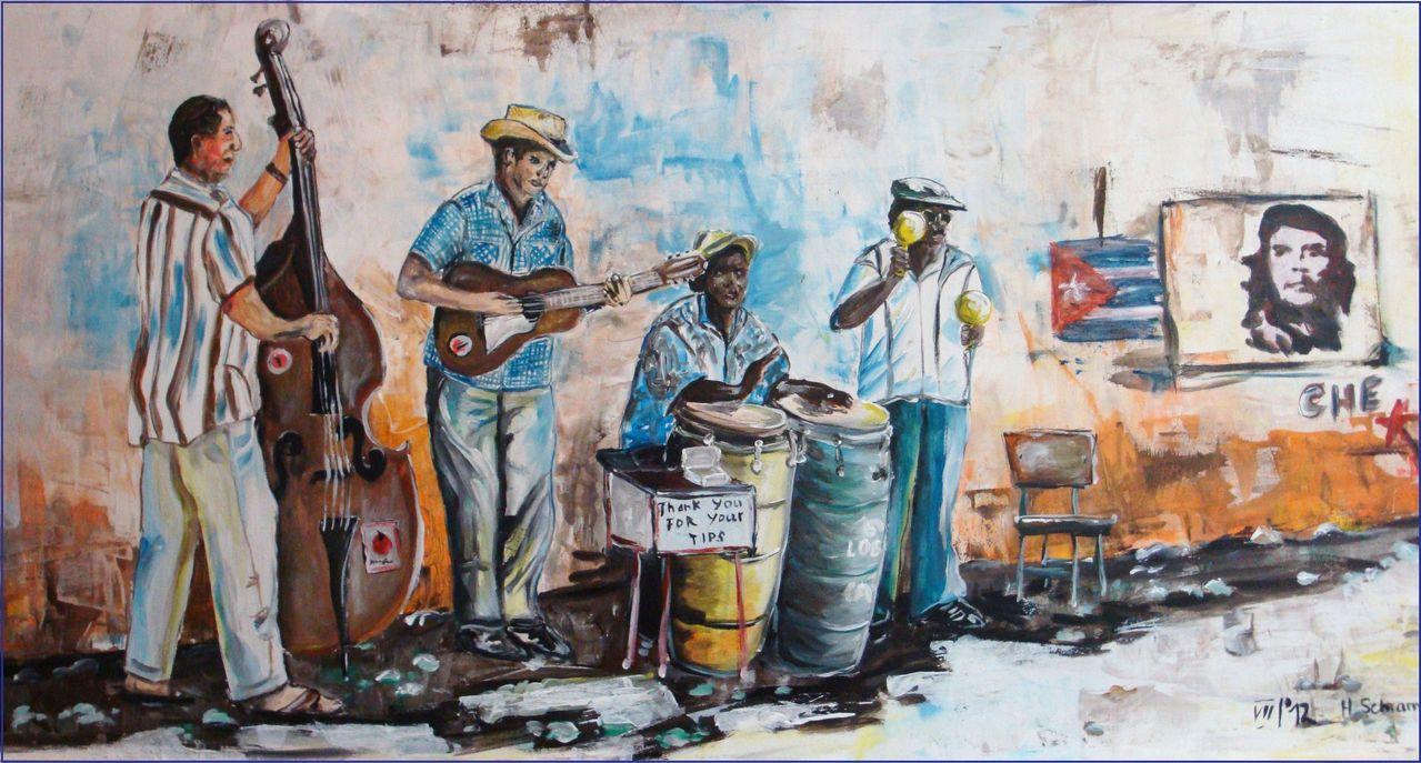 Kunstnet werke malerei sonstiges kubanische straßenmusikanten