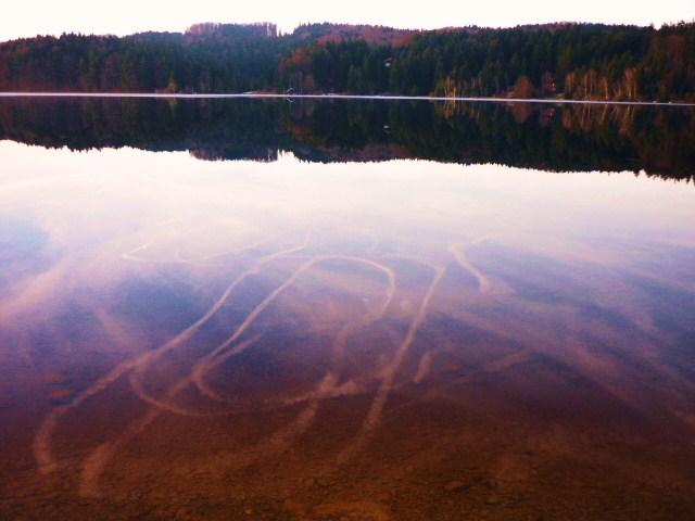 Spiegelbild, Natur, Ruhe, See, Chemtrails, Wasser