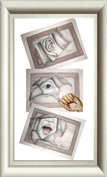 Rede, Augen, Allein, Bleistiftzeichnung, Sehen, Zeichnung
