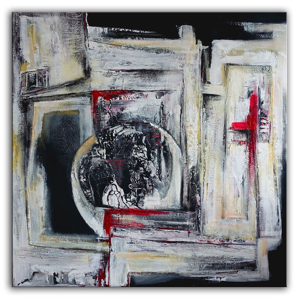 Acrylmalerei, Struktur, Abstrakte malerei, Malerei, Gemälde, Rot