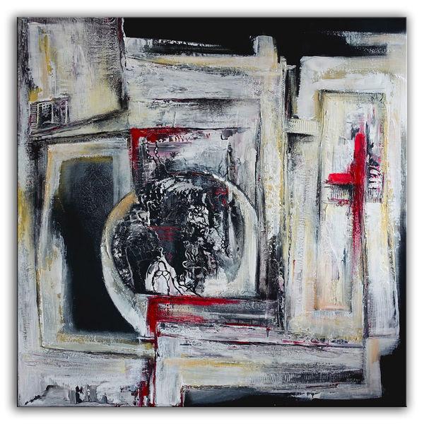 Acrylmalerei, Struktur, Abstrakte malerei, Malerei, Rot, Grau
