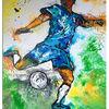 Abstrakte malerei, Fußball, Spieler, Kicker