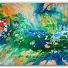 Malen, Kunst bild, Blau, Liquid painting