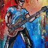 Acrylmalerei, Musik, Gitarre, Modernes wandbild