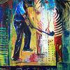 Golf, Dekoration, Golfspiel, Malerei