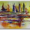 Acrylmalerei, Gelb, Gold, Abstrakte kunst