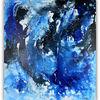 Malen, Kunst bild, Blau, Silber