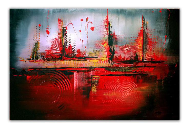 bild vulkan gem lde moderne malerei rot von alex b bei kunstnet. Black Bedroom Furniture Sets. Home Design Ideas