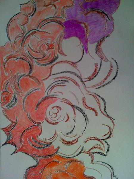 Malerei, Pink, Flamenco