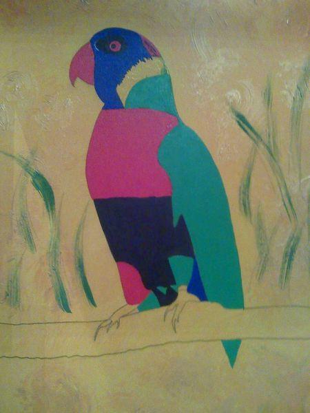 Vogel, Malerei, Tiere, Tante