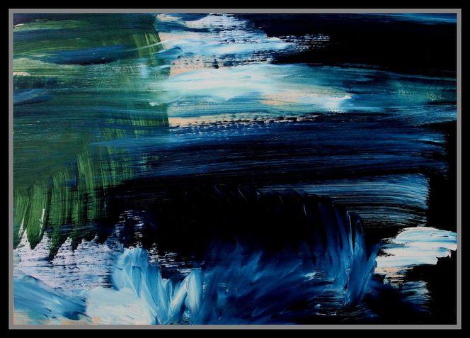 Abstrakt, Malerei, Landschaft, Acrylmalerei