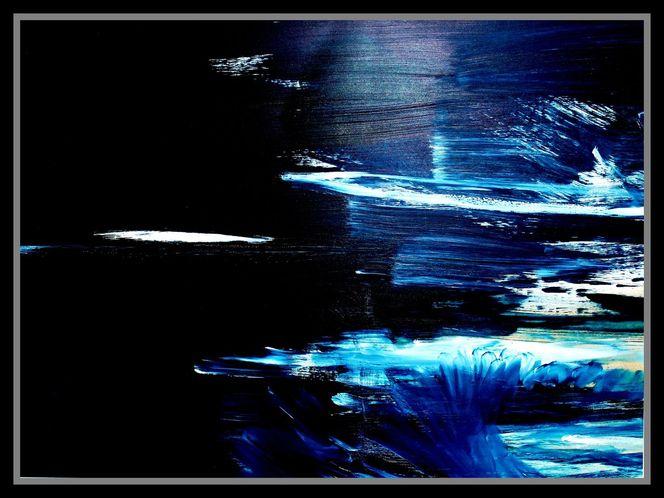 Acrylmalerei, Landschaft, Malerei, Meer, Nacht