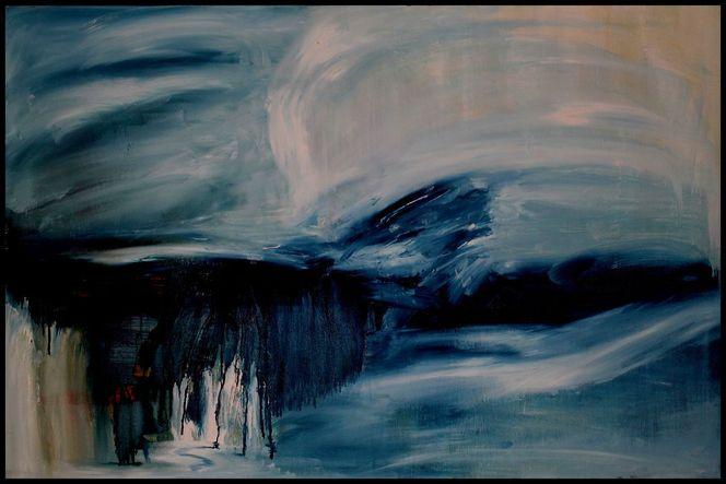 Sand, Ölmalerei, Mischtechnik, Abstrakt, Acrylmalerei, Landschaft