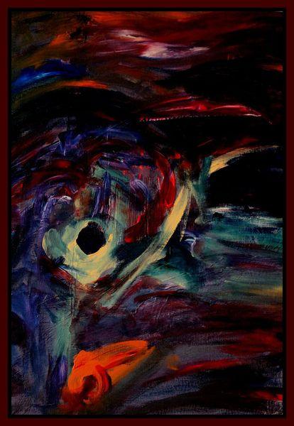 Acrylmalerei, Malerei, Abstrakt, Schrei