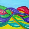 Farben, Himmel, Sommer, Malerei