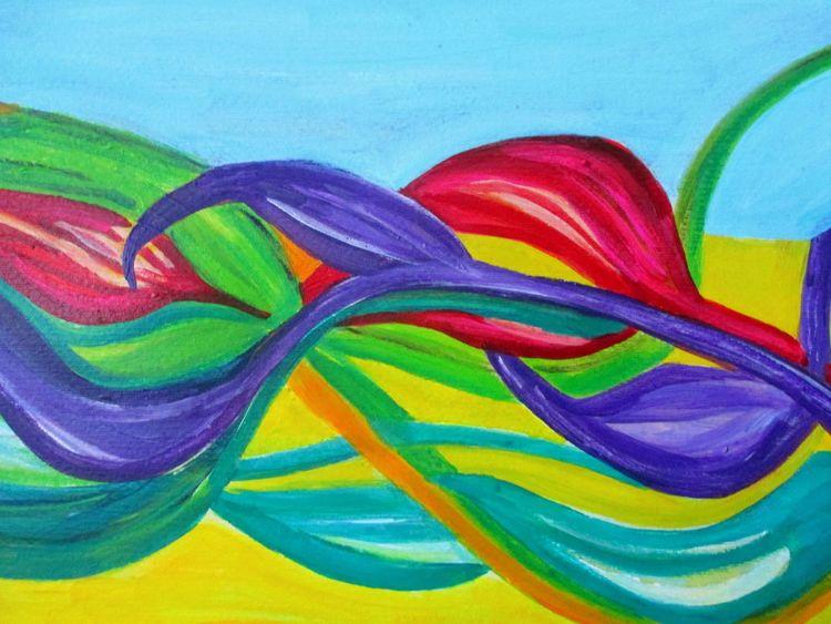 Sommer, Farben, Himmel, Malerei