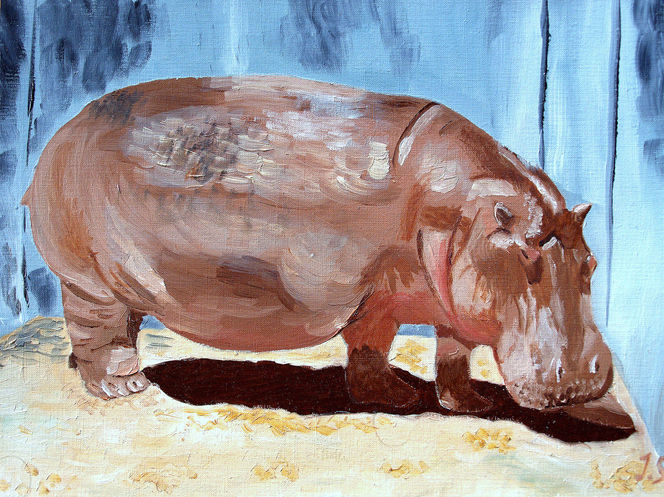 Flusspferd, Malerei