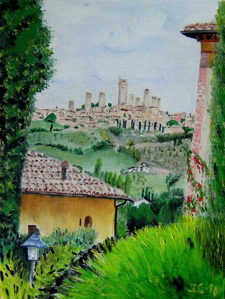 Toskana, San gimignano, Malerei