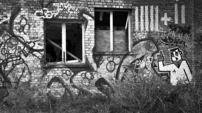 Berlin, Ruine, Industrieruine, Tempel, Wand, Roh