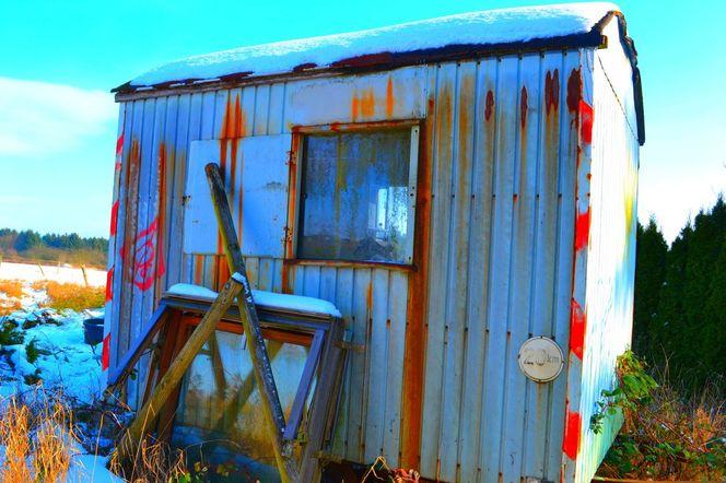 Wohnwagen, Winter, Baum, Schnee, Fotografie, Alter