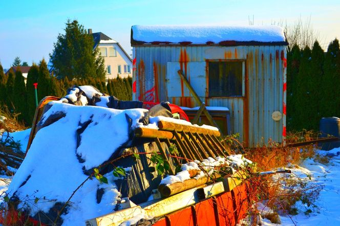 Winter, Auto, Wohnwagen, Schnee, Fotografie