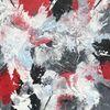 Acrylmalerei, Schüttungen, Marmormehl, Abstrakt