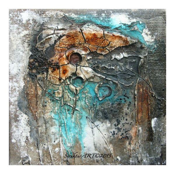 Aquarellmalerei, Sumpfkalk, Granulat, Marmormehl, Firnis, Struktur