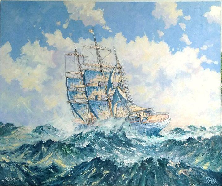 Atlantik, Sturm, Wind, Segel, Segelschiff, Schiff