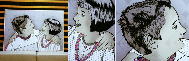 Portrait, Digital, Kunstdruck, Die anderen, Digitale kunst, Leatom