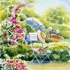 Garten, Sommer, Rose, Bunz