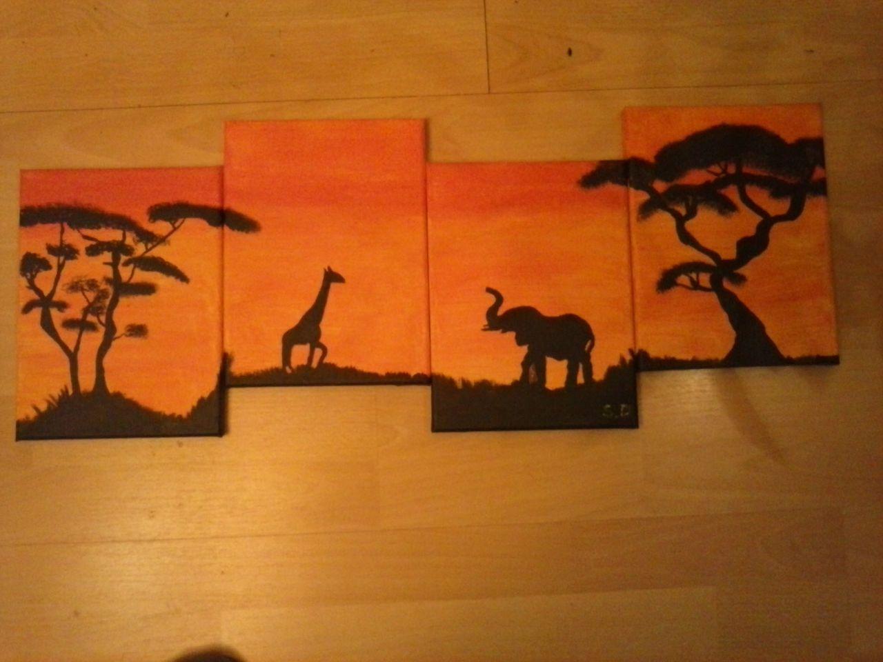 bild afrika acrylmalerei malerei von stefan digel bei kunstnet. Black Bedroom Furniture Sets. Home Design Ideas