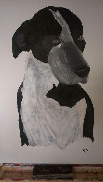 Hund, Acrylmalerei, Malerei,
